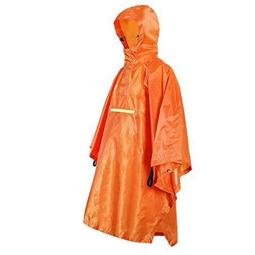 Waterdicht Rain Poncho Fietsen regenjas reflecterende strip Regenkleding Large Lichtgewicht waterdichte multifunctionele regenjas,Orange