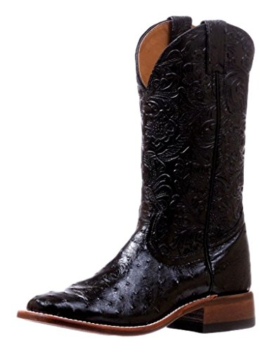 Botas estadounidenses – Exóticas (Autruca) BO-5525-C (pie normal) – Mujer – Cuero – Negro, Negro (Autruche Noir Dankan Noir), 9½ US - 42 EU - 8 UK - 26 MD