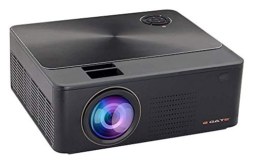 (Renewed) EGATE K9 Android LED 720p 2400 Lumens HD Projector with 4D Digital Keystone