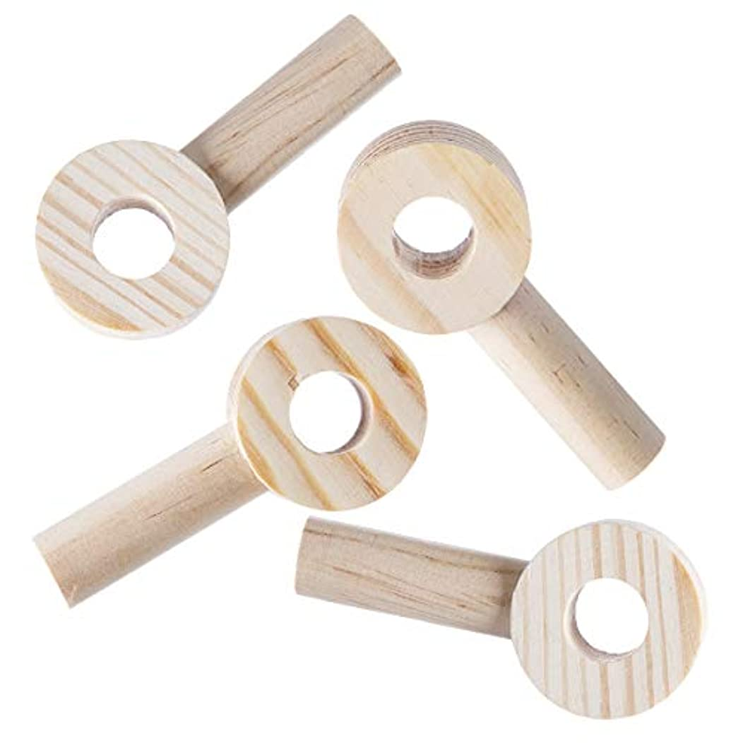Darice 30053172 Pegboard System: Wooden Peg Circle, Unfinished, 1.38 x 3 Inches, 4 Pieces, Natural