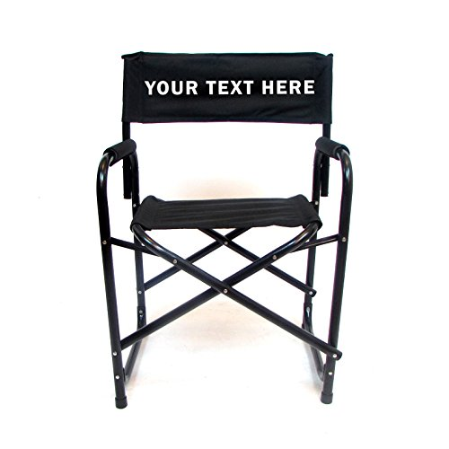 Personalized Embroidered All Aluminum 18 Standard Directors Chair by E-Z Up - Black