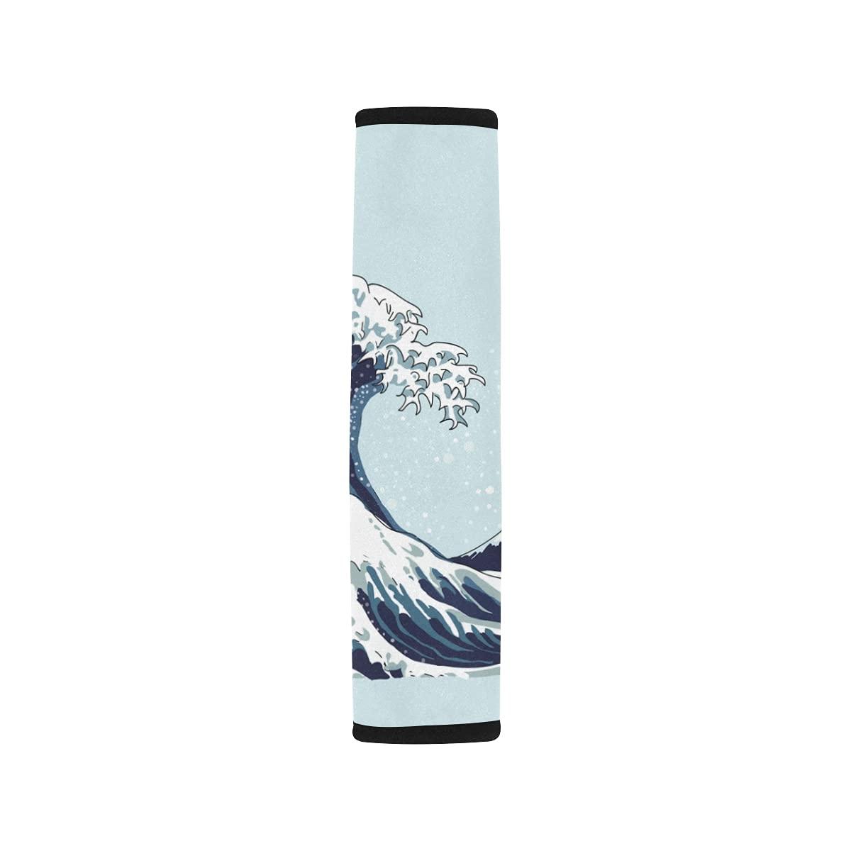 Max 53% OFF 2pcs Car Seat Belt 2021 model Cover Wave Shoulder Motif Japan Japanese