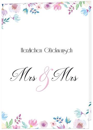 Hochzeitskarte Glückwunsch A4 // Hochzeitskarte groß