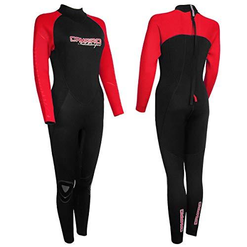 CAMARO MK OVERALL WOMEN black/red S/38 Damen Neopren Full Suit (6972710-72)