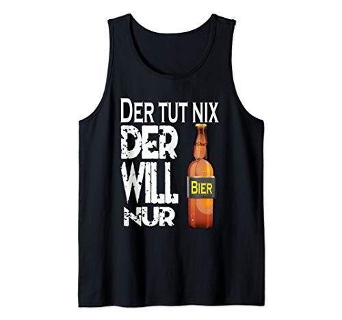 Herren cooles Party Outfit Vatertag - Der tut nix Der will nur Bier Tank Top