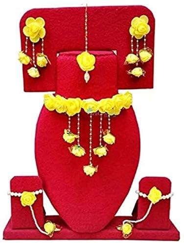 Riya Handcrafte Fabric Jewel Rose Flower Jewellery Set for Women & Girls