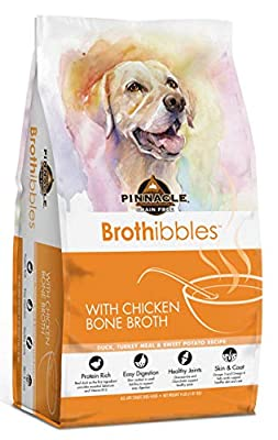Pinnacle Pet Brothibbles Duck, Turkey Meal and Sweet Potato Recipe with Chicken Bone Broth, All Life Stages Dry Dog Food