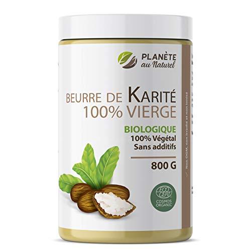 Beurre de Karité 800 g - Biologique - 100% vierge - 100% végétal - sans additifs - Non raffiné