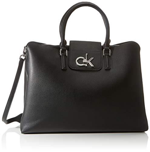 Calvin Klein Tote, Bolso para Mujer, Black, One Size