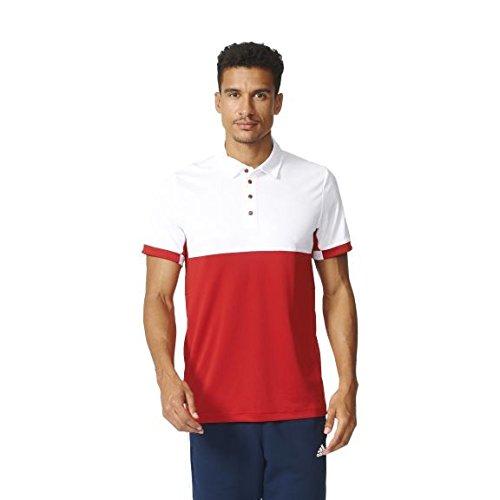 adidas Polo T16 CC, Talla M, otoño/Invierno, Unisex, Color Rojo/Blanco, tamaño Extra-Large