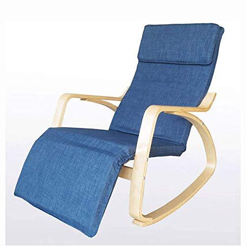 Decoración de muebles Silla perezosa Silla mecedora de relajación de madera Sillón reclinable con...
