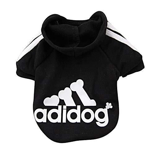Abbigliamento per Cani Felpe con Cappuccio Maglione per Cani Felpa in Pile di Cotone Caldo per Cani di Piccola Taglia Cane Medio Gatto (nero, XL)