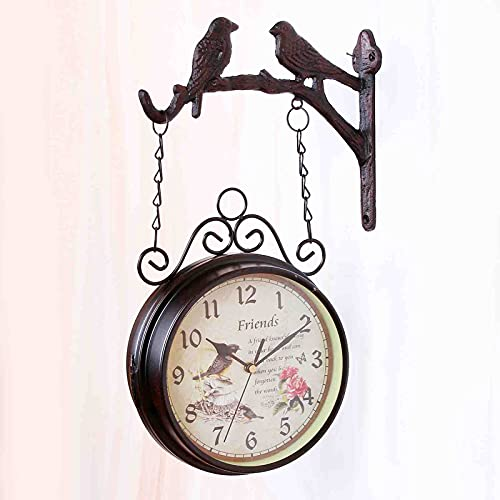 SXFYHXY Reloj de Pared Moderno,Grandes Decorativos Silencioso Interior Reloj de Cuarzo de Cuarzo Redondo No-Ticking para Sala de Estar, Funciona con Pilas