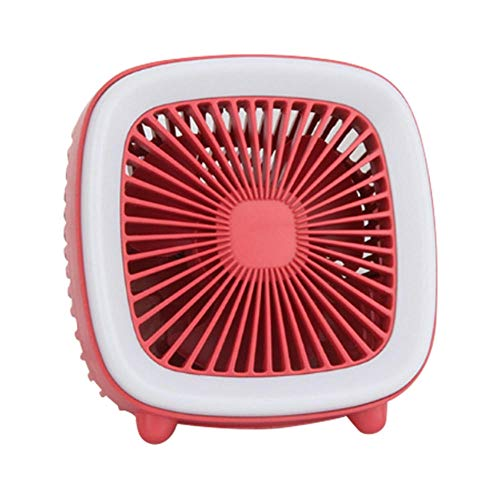 Yhhzw Portable Mini Fan Tv Design Desktop Cooling Fan For Office Home Usb Rechargeable Night Light Fans Size 95×90×48Mm