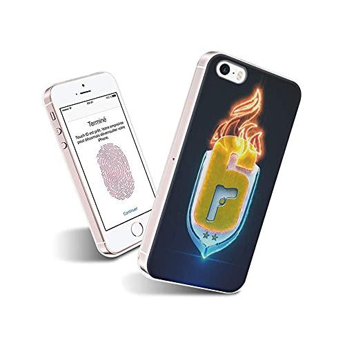 TaNGAnSP iPhone 5S Cover, iPhone SE Cover, Custodia Cover Silicone con Disegni Ultra Slim TPU Morbido Antiurto Modello Bumper Case Protettiva per iPhone 5S / iPhone SE (2016) #TaND007