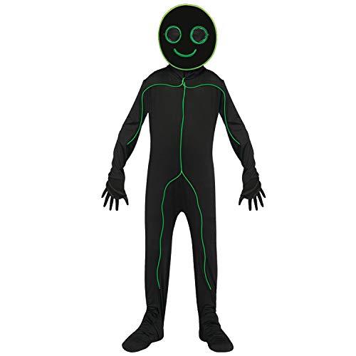 Child E.L. L.U. Stick Figure Glow Costume Large size 12-14