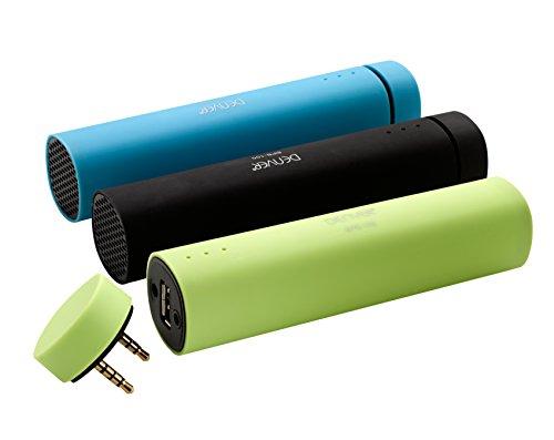 Denver BPB-100 Powerbank mit 4.000 mAh mit integriertem Bluetooth Lautsprecher schwarz für Apple iPhone, Samsung Galaxy