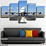 Leinwand Drucke 5 Teilig Poster Leinwand Flugzeug Airbus