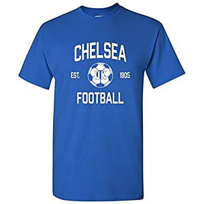 Chelsea UK Home Kit World Classic Soccer Football Arch Cup T Shirt - 3X-Large - Royal