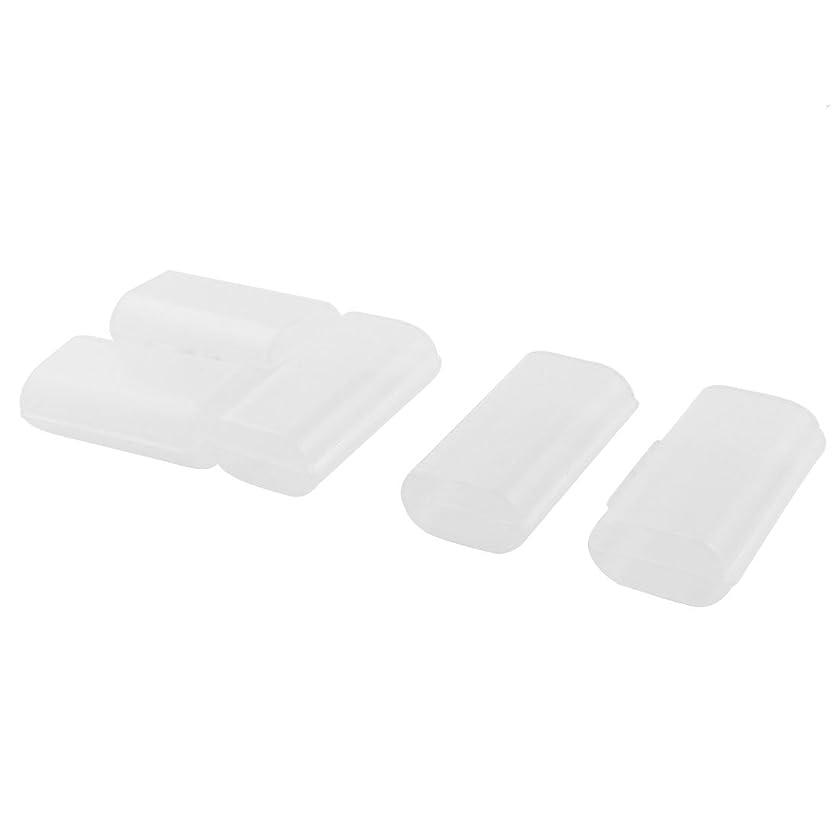 Plastic 2 Capacity AA Battery Holder Case Storage Box Clear 5 Pcs