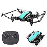 Pliable Drone Drone mondial Mini Drones pliable Dron RC Helicopter Drone X Pro Quadrocopter VS S9W H36 Fun cadeau pour les enfants (Couleur: Vert),Vert