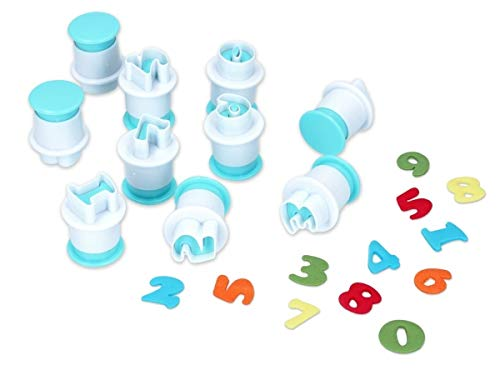 Mini uitsteekvormpjes Cookie Set cijfers 0-9 Eerste schoolstempel koekjes