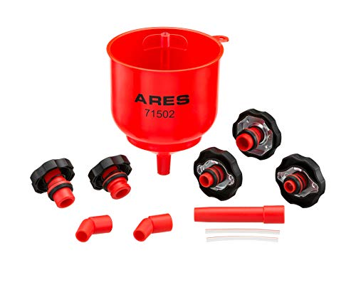 ARES 71502 - Spill Proof Coolant Filling Kit - Eliminates Trapped Air Pockets and Squeaky Belts Due to Overflow