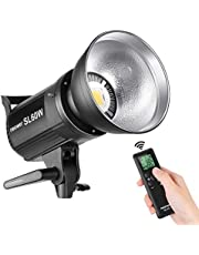 Neewer SL-60W LED Video Light White 5600K Version, 60W CRI 95+, TLCI 90+ with Remote Control and Reflector, Continuous Lighting Bowens Mount for Video Recording, Children Photography, Outdoor Shooting