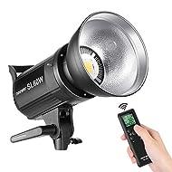 Neewer SL-60W LED Video Light Bianco 5600K, CRI 95 +, TLCI 90+, con telecomando e riflettore, illuminazione continuativa Bowens Mount per registrazione video, fotografia per bambini, ripresa esterna