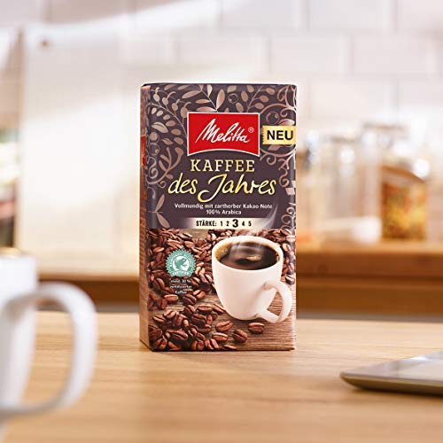 Melitta Gemahlener Röstkaffee, Filterkaffee, 100% Arabica,Kaffee des Jahres 2020 vollmundig mit zartherber Kakao-Note, 12 x 500 g