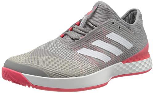 adidas Adizero Ubersonic 3 Allcourtschuh Herren-Hellgrau, Koralle, Zapatillas de Tenis para Hombre
