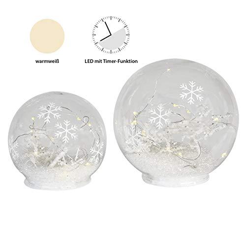 Casablanca LED Leuchtkugel Snowflake 10LEDs