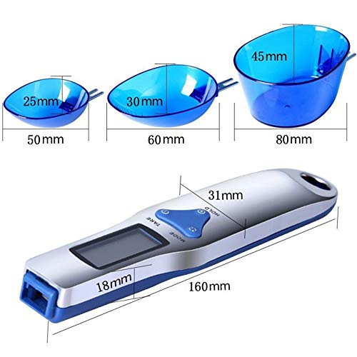 【2020最新型】計量スプーンスプーンスケールデジタル電子式計量器デジタルスプーン500g0.1g単位LCDディスプレイ料理スプーンオートパワーオフモード機能付き壁掛け出来るフック穴付き簡単に計量できるスプーン