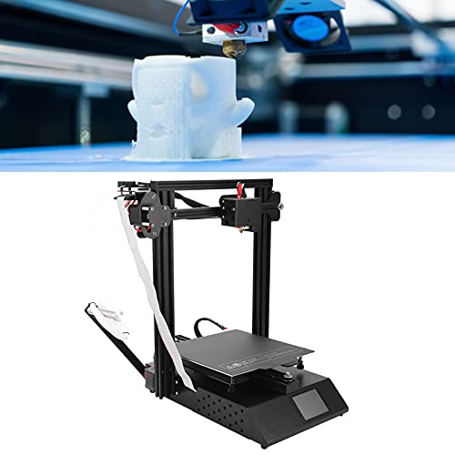 Impresora 3D de alta precisión, pantalla LED a color de 3,5 pulgadas Compatible con la impresora 3D Software Slice, incluido para Repetier(European standard 250V, pink)