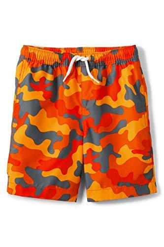 Lands' End B Swim Trunks Bright Orange Camo Kids Large