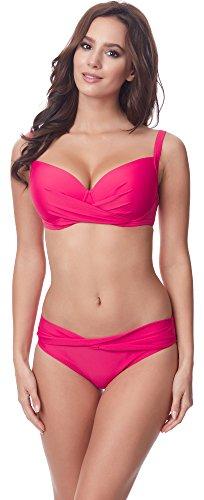 Merry Style Damen Bikini Set P654-25TSG(Fuchsia, Cup 80 B/Unterteil 40)
