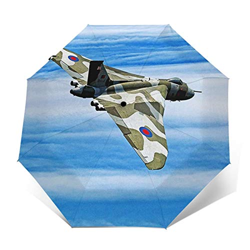 Paraguas Plegable Automático Impermeable Fuerza aérea del Bombardero, Paraguas De Viaje Compacto A Prueba De Viento, Folding Umbrella, Dosel Reforzado, Mango Ergonómico