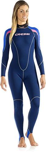 Cressi One, Muta Neoprene Donna 1mm, Blu, S