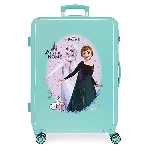 Disney Frozen Arendelle Is Home Maleta mediana Azul 48x68x26 cms Rígida ABS Cierre de combinación lateral 70L 2,66 kgs 4 ruedas dobles