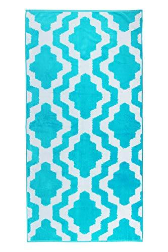 jilda-tex Strandtuch Pattern 90x180 cm Badetuch Strandlaken Handtuch 100% Baumwolle Velours Frottier Pflegeleicht