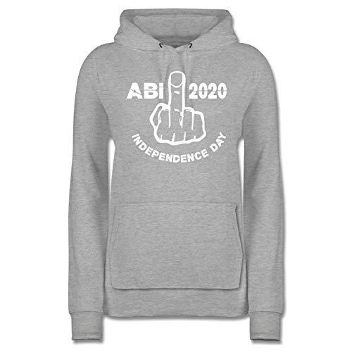 Abi & Abschluss - Independence Day - Abi 2020 - XL - Grau meliert - Independence Day - JH001F - Damen Hoodie und Kapuzenpullover für Frauen