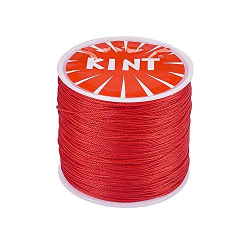 PandaHall 116 Yardas 0.5mm Cordones Redondos de poliéster Encerado Hilo Red Beading String para joyería y Suministros de macramé