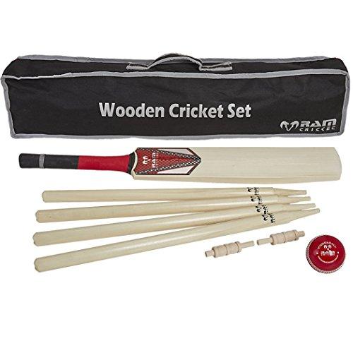 Ram Holz Cricket Set–erhältlich in den Größen 3, 5und H. perfekt für EIN lustiges Spiel der Cricket am Strand oder Park, erwachsenengröße