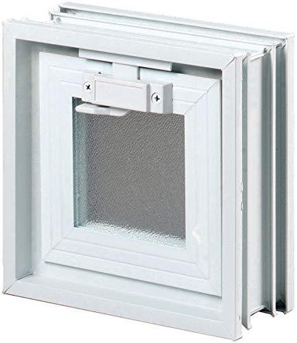 Fenêtre basculante pour linstallation dans un mur de briques de verre, au lieu de un brique de verre 19x19x8cm