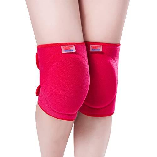 FGGTMO Protective Knieschützer, Sportschutz Kneepads for Jugend und Erwachsene, for Basketball/Volleyball/Gewichtheben/Tanzen/Wandern/Yoga, 1Pair (Color : Red)
