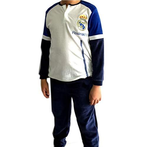 Pijama Real Madrid Adulto Invierno Tejido Terciopelo (L)
