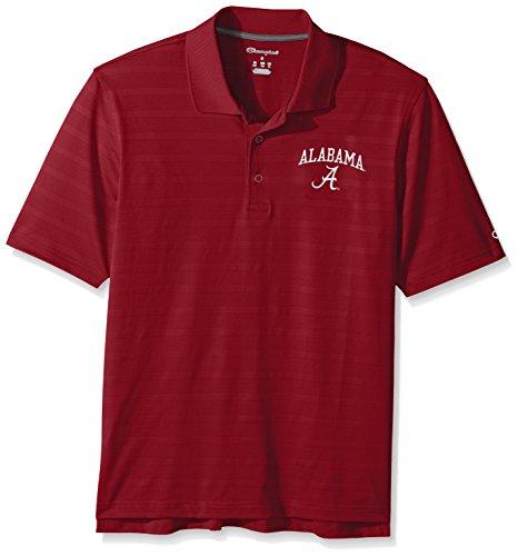 Champion NCAA Herren Poloshirt Strukturiert Solid, Herren, NCAA Men's Textured Solid Polo, Scharlachrot, X-Large