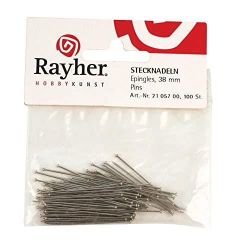 Rayher 2105700 Stecknadeln, 38 mm, SB-Btl. 100 Stück