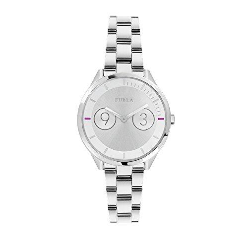 Furla Women's R4253102509 Metropolis white silver Dial Watch.