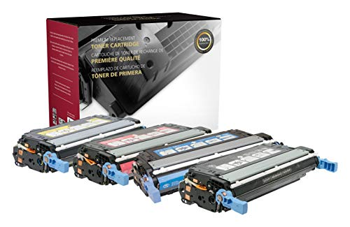 Inksters of America Remanufactured Toner Cartridge Replacements for The HP 643A Q5950A, Q5951A, Q5952A, Q5953A Color Set (KCYM) - Black 11,000, Colors 10,000 Pages (4 Pack)
